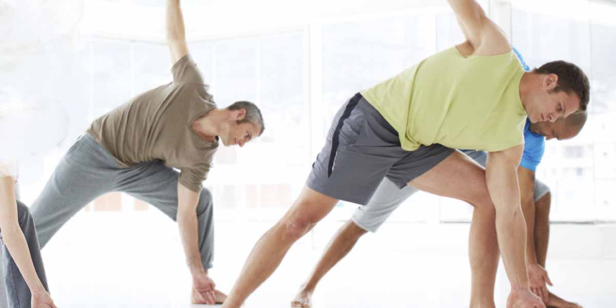Take it to the mat, guys: Yoga for 50-plus men