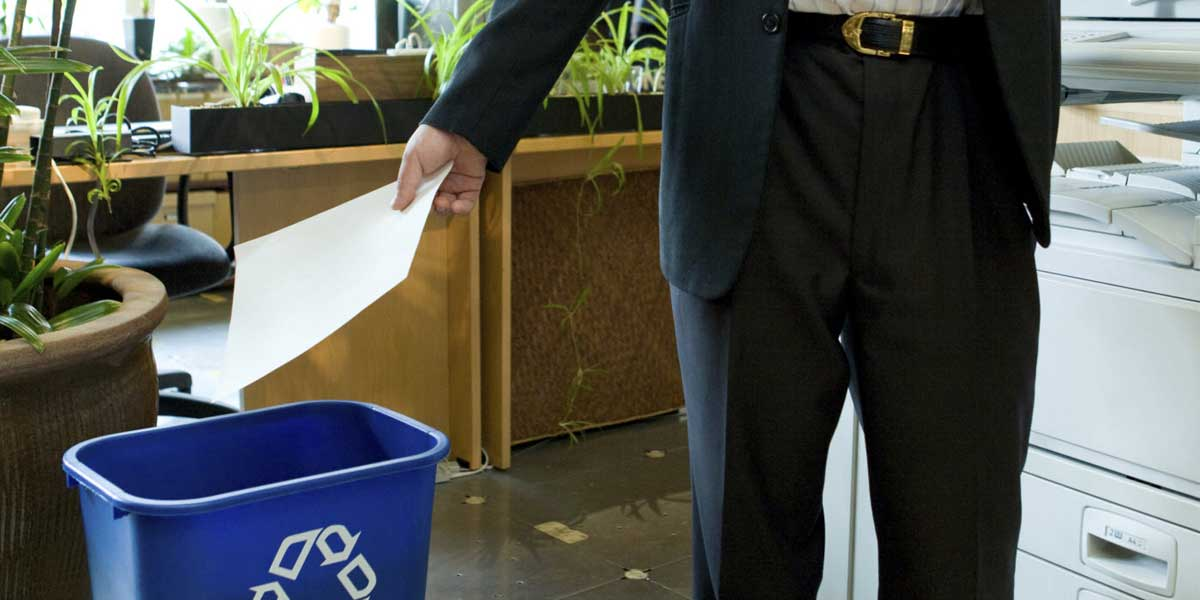 You recycle at home — why not at the office?