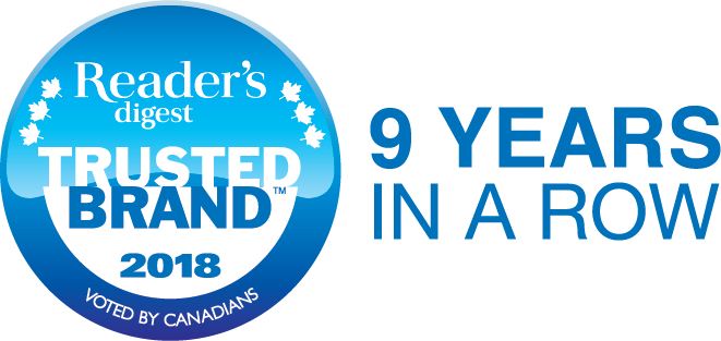 Reader's Digest Trusted Brand 7 years in a row