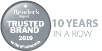 Voted Reader's Digest Most Trusted Brand 9 years in a row