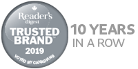 Voted Reader's Digest Most Trusted Brand 6 years in a row