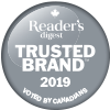 Voted Reader's Digest Most Trusted Brand 10 years